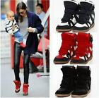 HOT FASHION Womens Velcro Strap High-TOP Sneakers Shoes/Ladys Ankle Wedge Boots