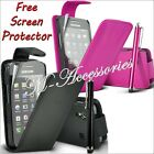 FLIP PU LEATHER CASE COVER POUCH FOR ALL NEW MAJOR MOBILE PHONES + SCREEN GUARD