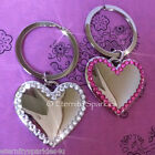 BNIB Sparkling Crystal & Chrome Large Heart Keyring Made With SWAROVSKI ELEMENTS