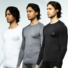 Mens Compression shirts Long sleeves  M~2XL sports Round neck Base Under Layer