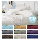 Full, Queen, King & Cal King Deep Pocket 4 Piece Bed Sheet Set With Pillow Cases