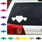 3 rounded hearts love cute sticker decal car atv motorcycle boat truck