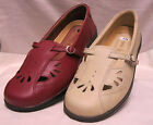 Ladies Easy B Winchcombe Red or Beige Leather shoe EE fitting