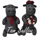 Hippo Wedding Cake Toppers Bride and Groom Cake Topper Hippopotamus