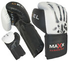 Max Advance Integrated Aero Gel Padded Leather Boxing Gloves,Punch Bag MMA,UFG B