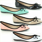 LADIES BALLERINAS PATENT SHOE WITH BOW DETAIL ( F8823)