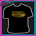 RUGBY FAN PLAYER ADDICTED 6 NATIONS UNION TSHIRT