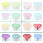 "Organza Table Overlay Cover Cloth 72""X72"" Wedding Party Supply Sheer Colors New"