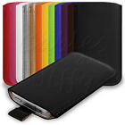 12 COLOURS PU LEATHER POUCH CARRY CASE COVER SLEEVE FOR VARIOUS MOBILE PHONES