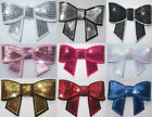 FABRIC 70mm SEQUIN BOW TIE IRON-ON HOTFIX KIDS DIY CRAFT APPLIQUE TRANSFER PATCH
