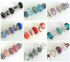 5 Uber COOL Mix of SPARKLE and GLASS European Charm Beads ~ 11  Stunning Colours