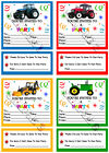 TRACTOR PARTY INVITATIONS /INVITES /ENVELOPES x10 Ref BYS2