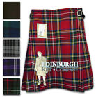 "GENTS' QUALITY 5-YARD PARTY KILT - 5 SCOTTISH TARTANS & BLACK - SIZES 28""-52""!"