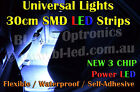 Universal 30cm SMD High Power LED Strip for Car Boat Bike DRL Fog Undercar Neon