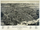 Decor Poster.Fine Graphic Home Art Design. Knoxville, Tenn. 1886 Birds eye. 2749