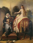 "Lady Godiva's Prayer, C.1865- Edwin Landseer-20""x26"" Nude art on Canvas"