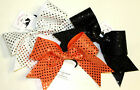 Simply Glitz Sequin Cheer Bow LARGE Choose Color for Competition Tryouts