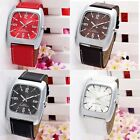 Fashion Luxury Square Case Mens Quartz  Stainless Steel Wrist Watches