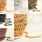 4m Iron Unfinished Ball Chains Antique Brass/Copper Silver Gold Black 2.4x2.4mm