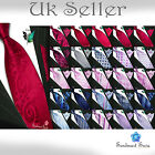 New Jacquard Silk Classic Formal Neck Ties with Cufflings and Hanky Tie Set