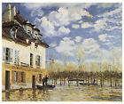 The Bark During the Flood, Port Marly, c.1876-Alfred Sisley - Art on Canvas