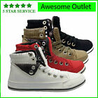 WOMENS LADIES FLAT ANKLE BOOTS LACE SPORTS HIGH HI TOP PUMPS TRAINERS SHOES SIZE