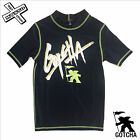 GOTCHA 'BAD GUY' RASH VEST BLACK AGES 8 - 10 - 12 BOYS SURF WETSUIT KIDS BNWT