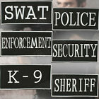 "Black & White Enforcement ID Patch - Hook & Loop Applications, 2"" x 4"""