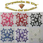 FABRIC SATIN DIAMANTE STAR BURST IRON-ON CUSTOMIZE BLING GYMNASTIC CHEER LEADER