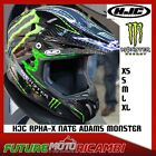 HJC CASCO FIBRA R-PHA-X NATE ADAMS MONSTER ENERGY MC5 HELMET CROSS OFF ROAD