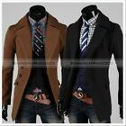 New Men Fashion Slim Fit Single Breasted Trench Coat Jacket Black Brown MCOAT122