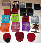 Various Colorfull Jewelry Boxes for Rings, Earring. Heart, Square, round, bows