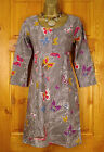 NEW WHITE STUFF BROWN YELLOW RED PURPLE BLUE BUTTERFLY FLORAL TUNIC DRESS TOP