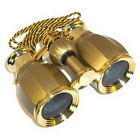 4 x 30 Opera Theater Binocular Glasses Antique Style Golden with Necklace Chain
