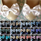PALE SATIN BOW SHOE CLIPS VINTAGE STYLE GLAMOUR BOWS 40s 50s BRIDAL PROM PARTY