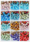 Wholesale 100/200/500Pc Murano Lampwork Glass Beads Charms Fit European Bracelet