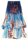 1131 Agan Traders 100% COTTON Ballon Asymmetrical Blues VINTAGE SEXY Skirt Dress