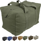 Heavy Duty Cotton Canvas Large Military Parachute Cargo Bag