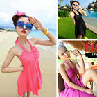 Top New Chic Slim 2-pc Halter Tankini Women Bathing Swimwear Swimsuit Monokini
