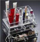 Makeup Organizer Cosmetics Acrylic Clear Case Storage Insert Holder Box New