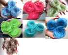 3 X BEAUTIFUL HANDMADE BLOSSOMS - 10 colours to choose
