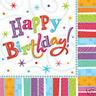 Happy Birthday Age Napkins 18 21 30 40 50 60 65 70 80 90 100 Party Celebration