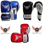 BooM Pro Leather Boxing Gloves MMA Sparring Punch Bag Muay Thai Training Gloves