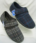 Mens Clarks King Switch Navy or Brown Velcro Slipper G Fitting