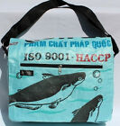 Fair Trade Cambodian Recycled Ex Large Messenger Bags made from Fish Feed Bags