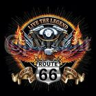 LIVE LEGEND~ROUTE 66~EAGLE~BIKER~~BLACK SLEEVELESS T-SHIRT~S-2XL~~SUPPORT TROOPS
