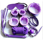 Wow Bondage Set Kit Rope Ball Gag Cuffs Whip Collar Blindfold Adult Sexy Toy