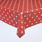 RED POLKA VINYL WIPE CLEAN TABLECLOTH TABLE COVER