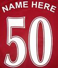 IRON ON / HEAT PRESS FOOTBALL NAME & NUMBER FROM ONLY £5.99 PREMIUM QUALITY