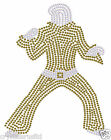 ELVIS PRESLEY POSE A IRON-ON RHINESTONE BLING FANCY PARTY TSHIRT TRANSFER PATCH